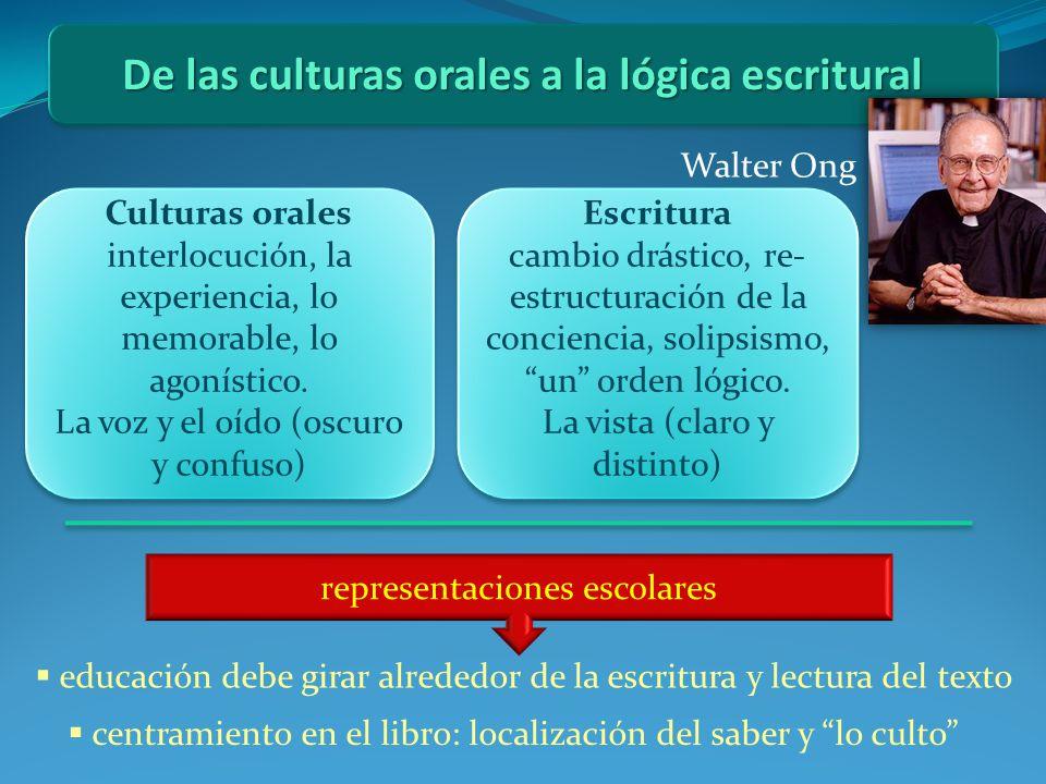 De las culturas orales a la lógica escritural