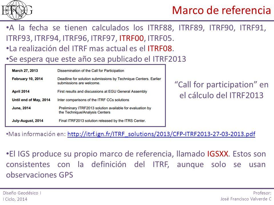 Call for participation en el cálculo del ITRF2013