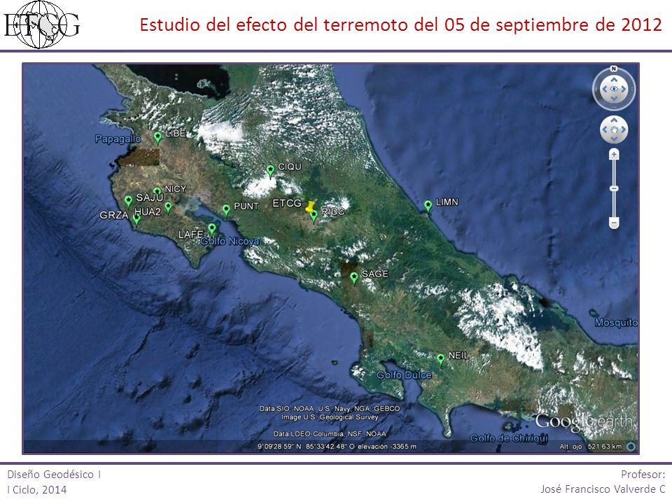 Estudio del efecto del terremoto del 05 de septiembre de 2012