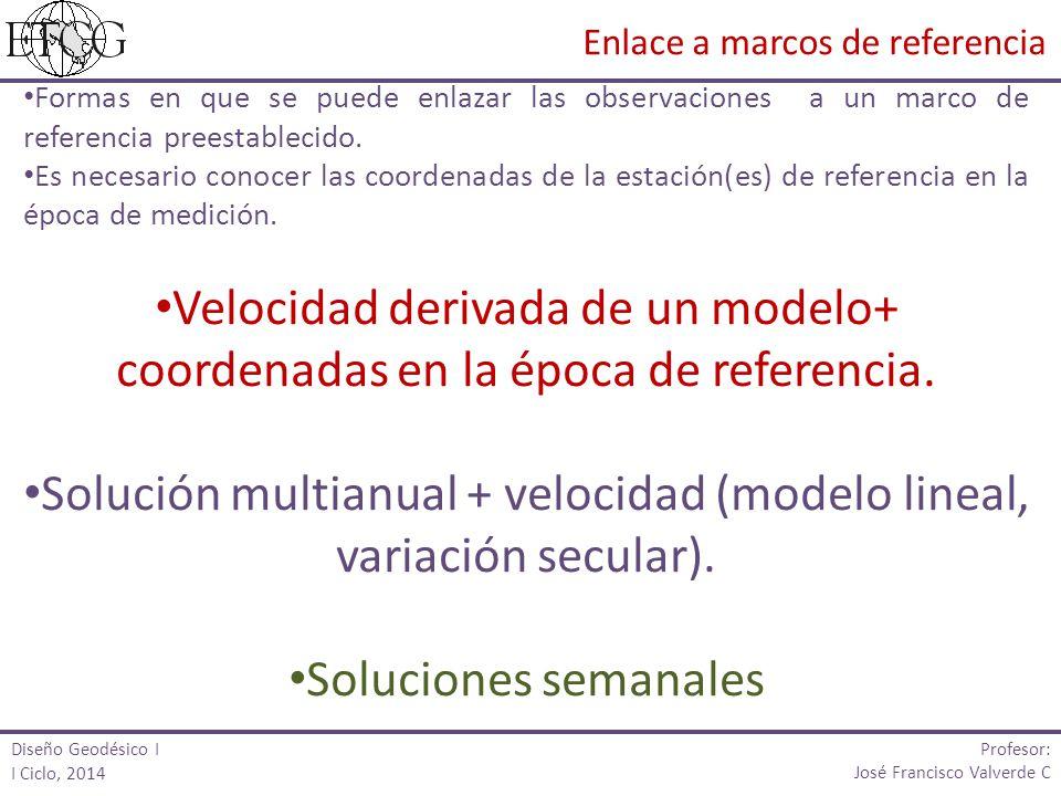 Solución multianual + velocidad (modelo lineal, variación secular).