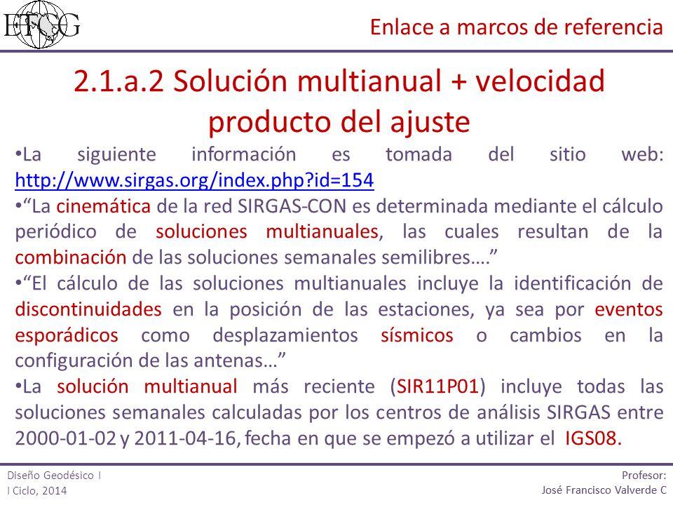 2.1.a.2 Solución multianual + velocidad producto del ajuste
