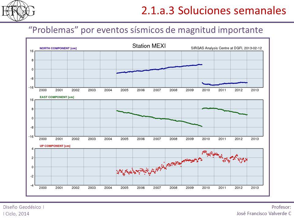 Problemas por eventos sísmicos de magnitud importante