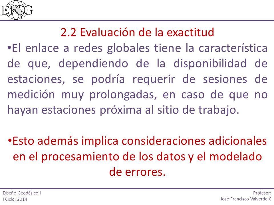 2.2 Evaluación de la exactitud