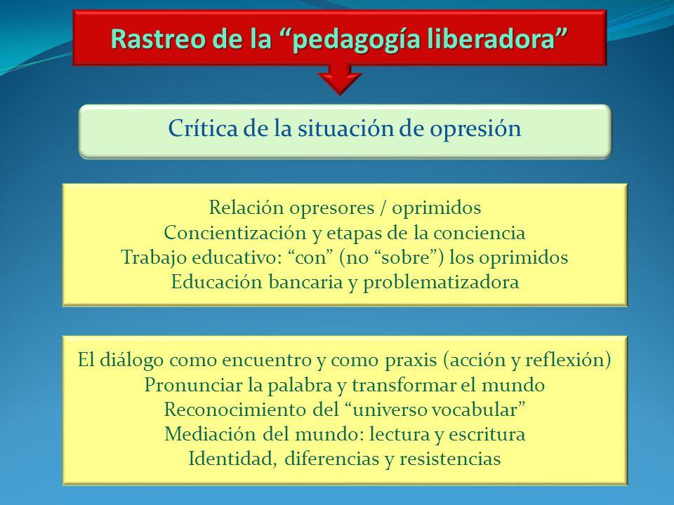 Rastreo de la pedagogía liberadora