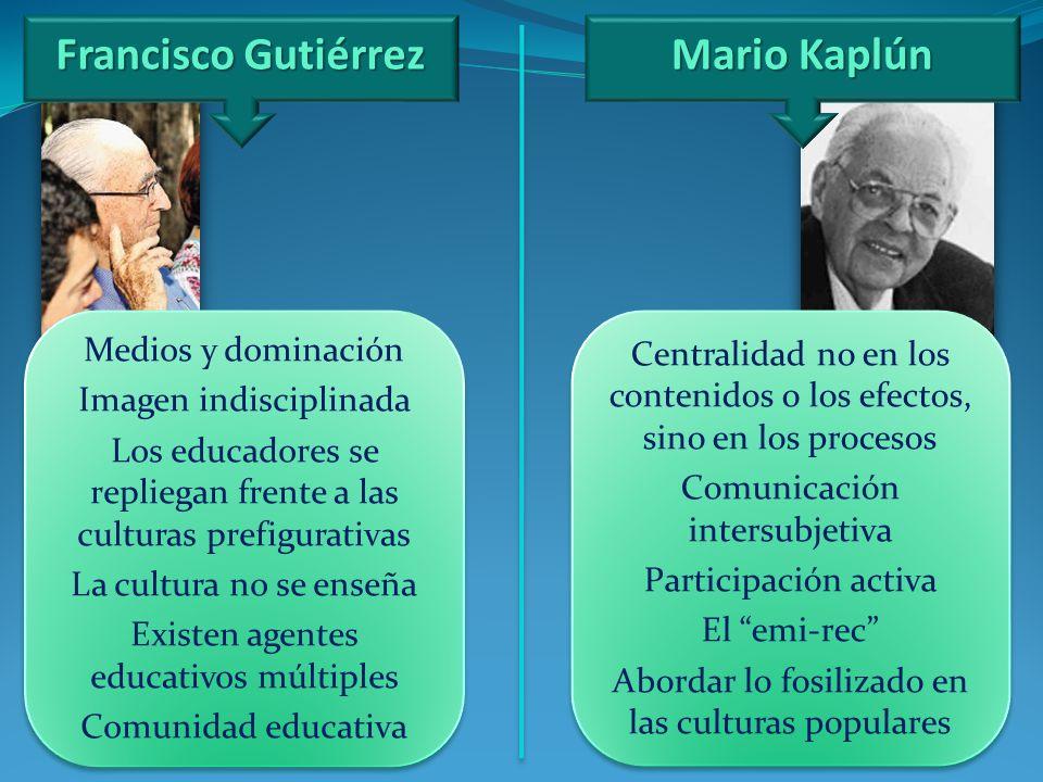Francisco Gutiérrez Mario Kaplún