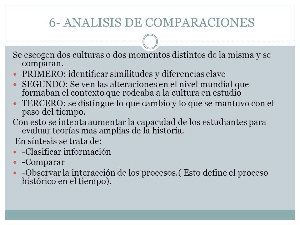 6- ANALISIS DE COMPARACIONES