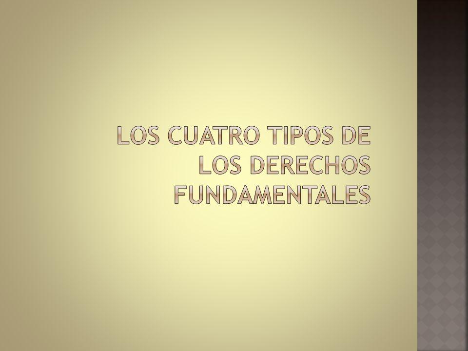 LOS CUATRO TIPOS DE LOS DERECHOS FUNDAMENTALES