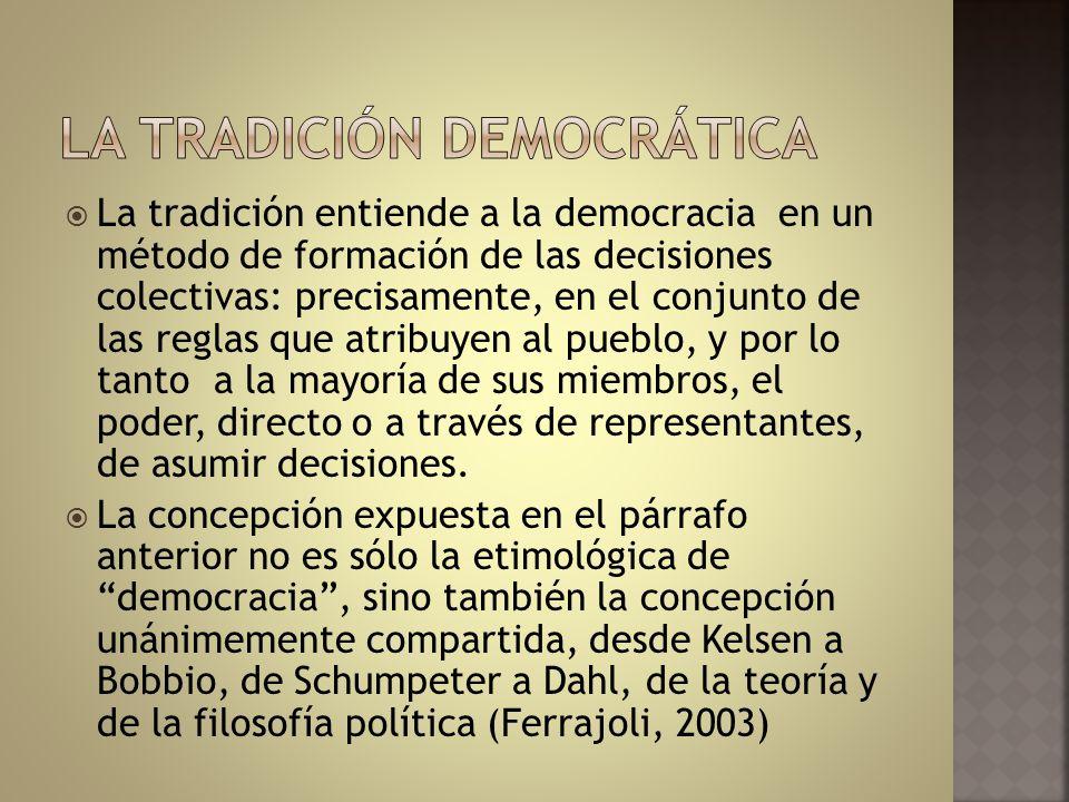 La tradición democrática
