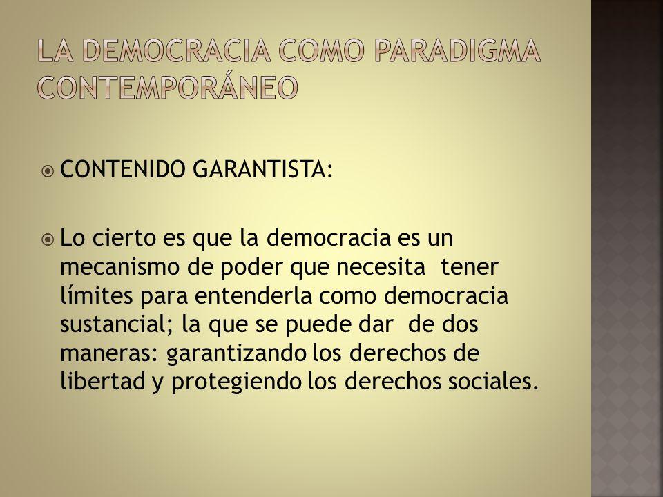 La democracia como paradigma contemporáneo