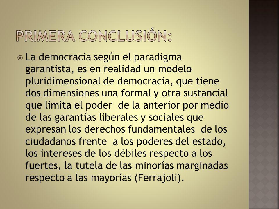 PRIMERA CONCLUSIÓN: