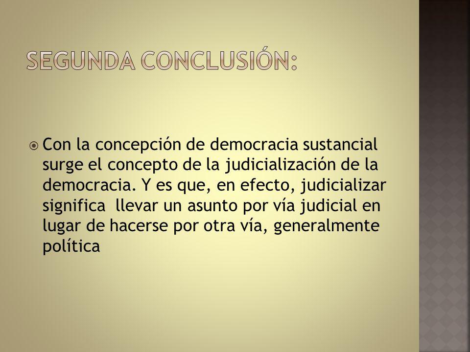 SEGUNDA CONCLUSIÓN: