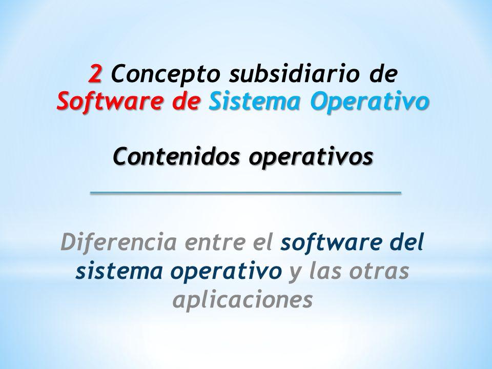 2 Concepto subsidiario de Software de Sistema Operativo