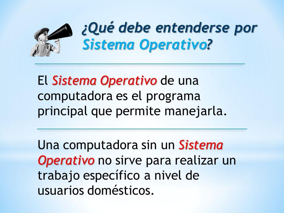 ¿Qué debe entenderse por Sistema Operativo