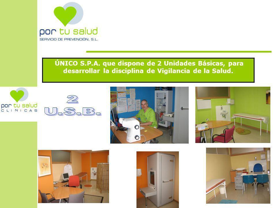 ÚNICO S.P.A. que dispone de 2 Unidades Básicas, para desarrollar la disciplina de Vigilancia de la Salud.