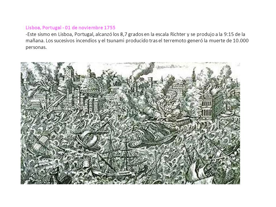 Lisboa, Portugal - 01 de noviembre 1755