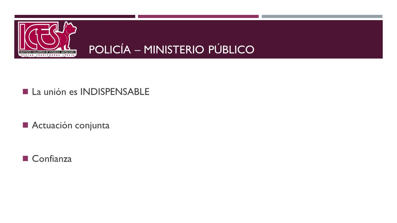 Policía – ministerio público