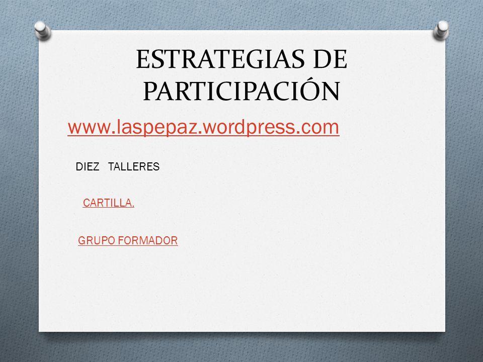 ESTRATEGIAS DE PARTICIPACIÓN