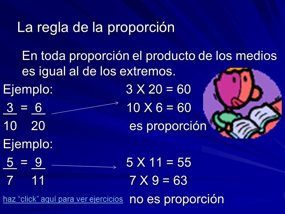 La regla de la proporción