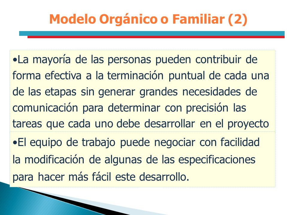 Modelo Orgánico o Familiar (2)