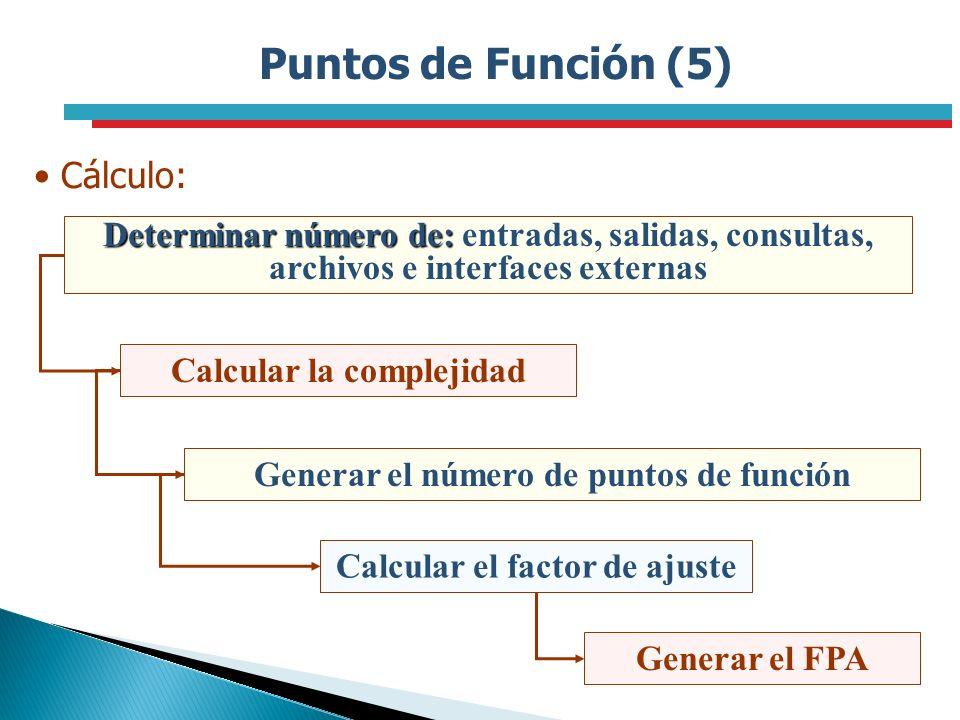 Puntos de Función (5) Cálculo:
