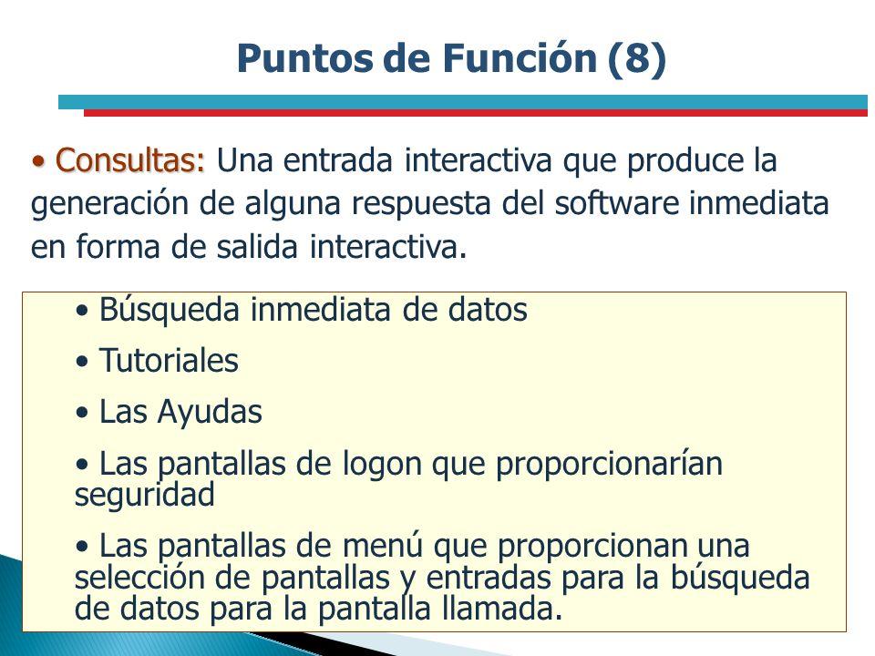 Puntos de Función (8)