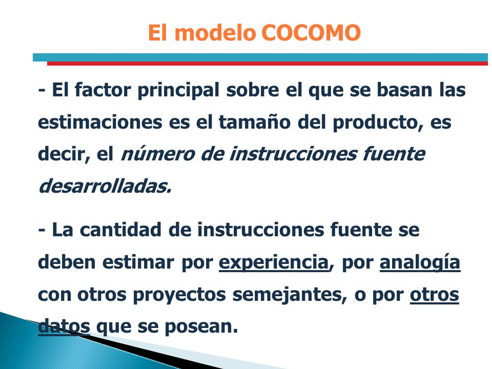 El modelo COCOMO