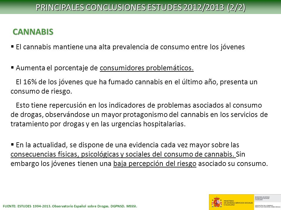 PRINCIPALES CONCLUSIONES ESTUDES 2012/2013 (2/2)