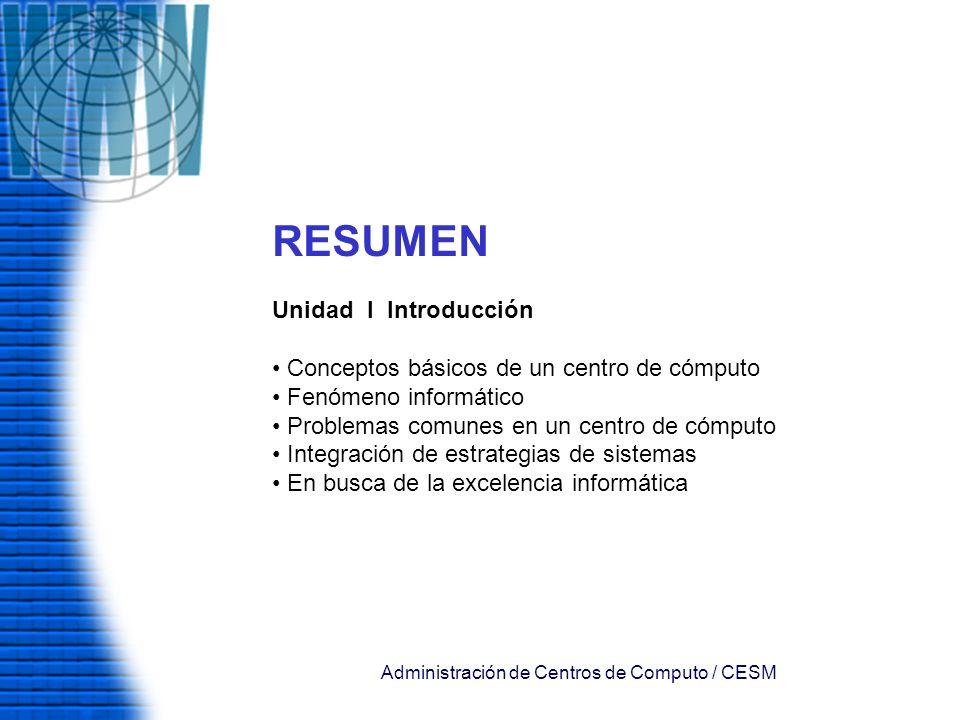 Administración de Centros de Computo / CESM