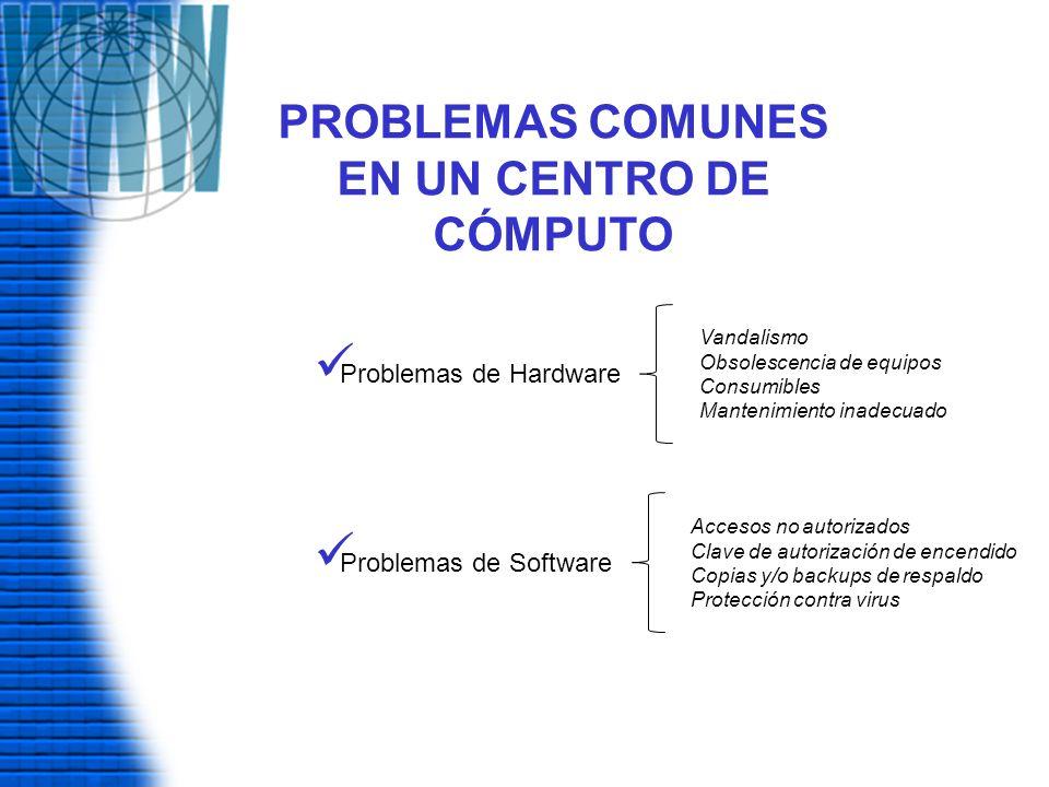 PROBLEMAS COMUNES EN UN CENTRO DE CÓMPUTO