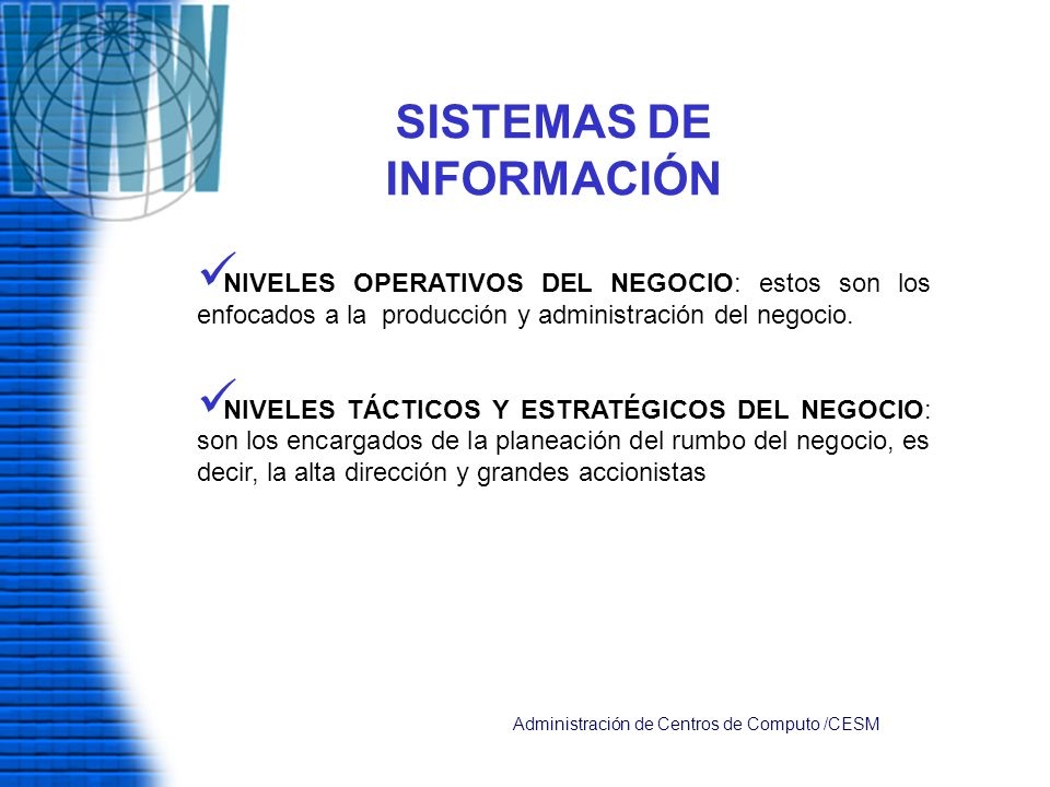 SISTEMAS DE INFORMACIÓN
