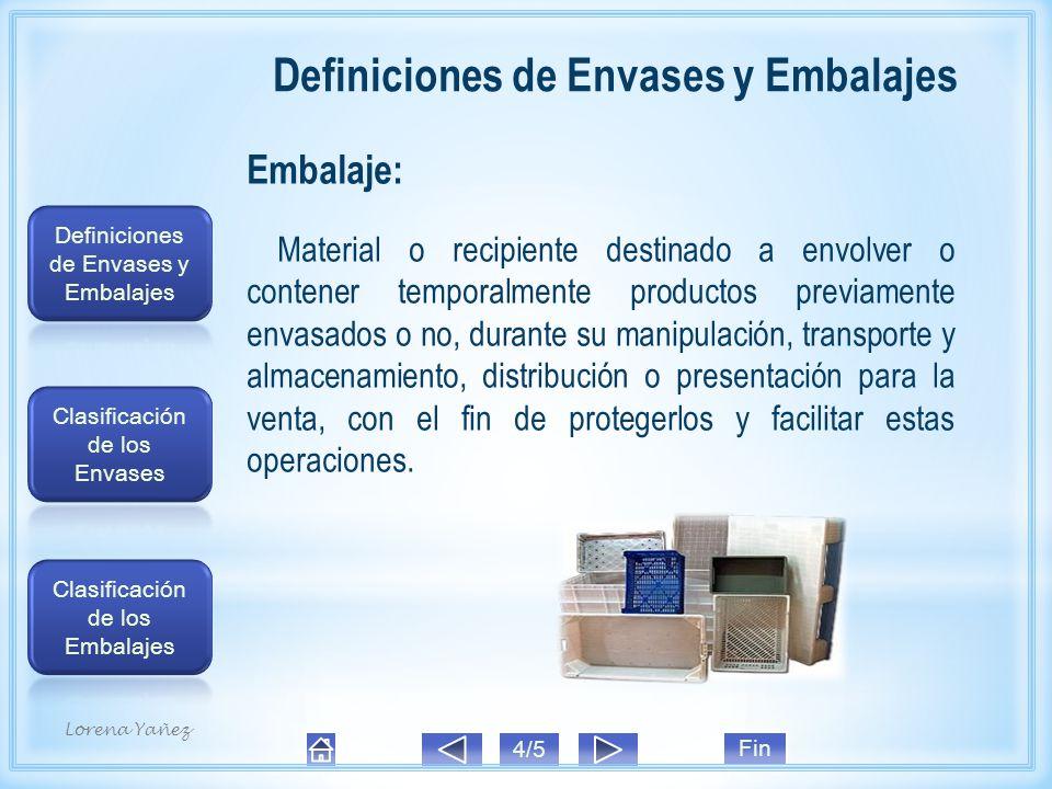 Definiciones de Envases y Embalajes