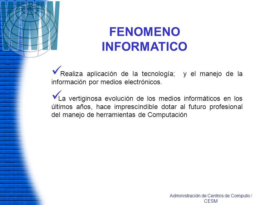 Administración de Centros de Computo /