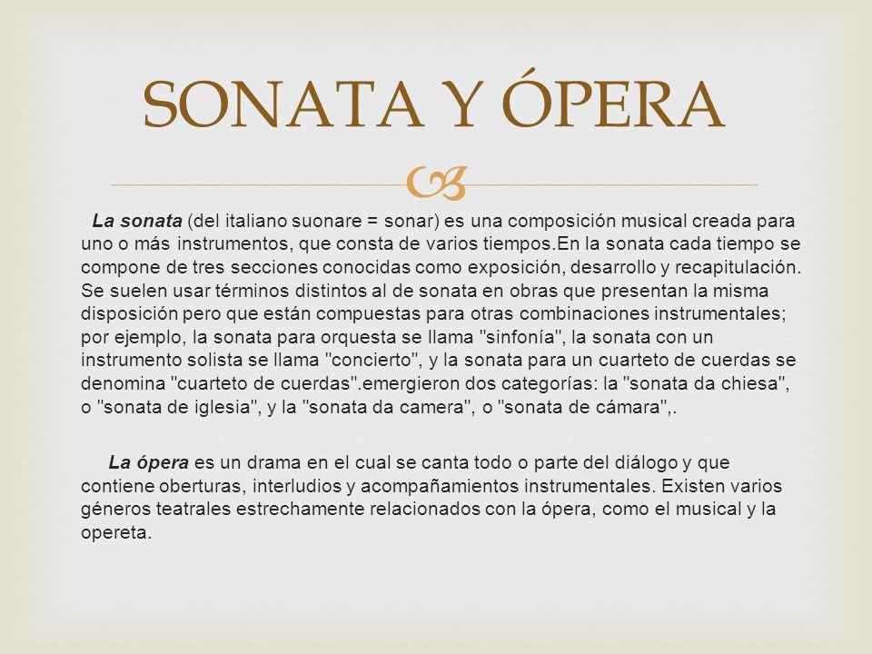 SONATA Y ÓPERA