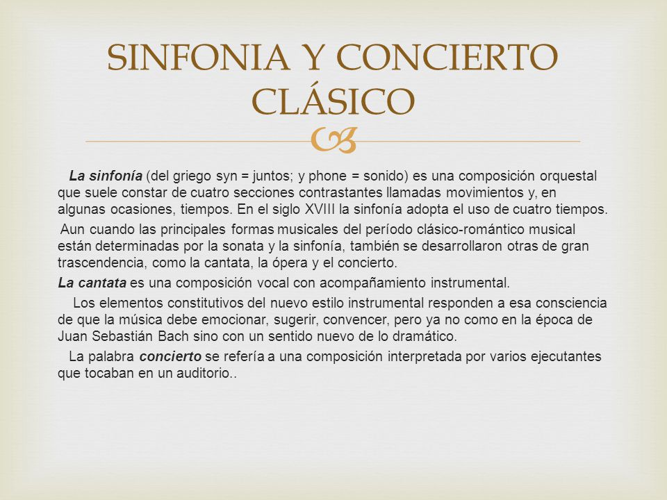 SINFONIA Y CONCIERTO CLÁSICO