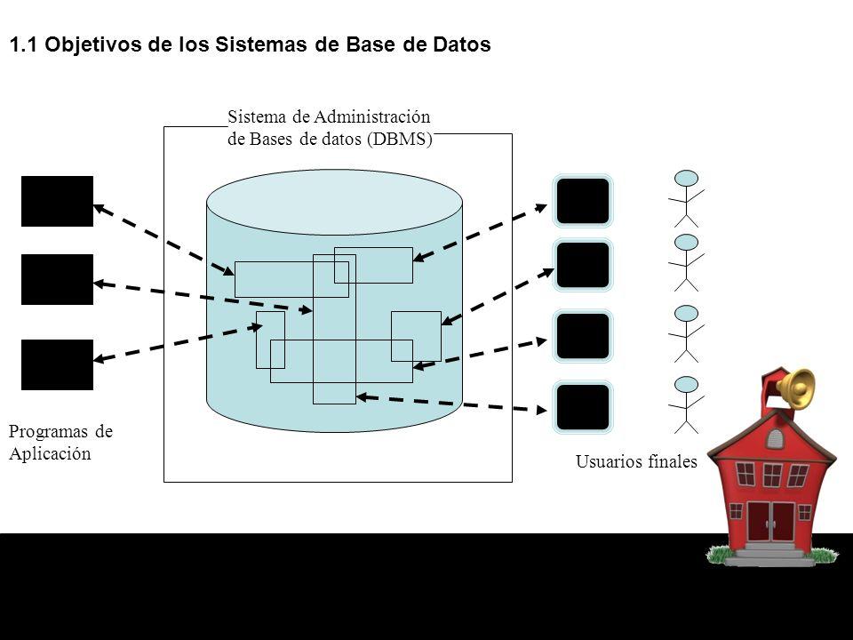 1.1 Objetivos de los Sistemas de Base de Datos