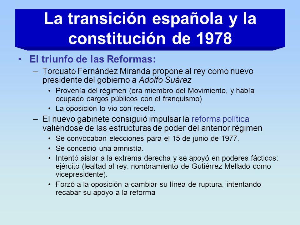 La transición española y la constitución de 1978