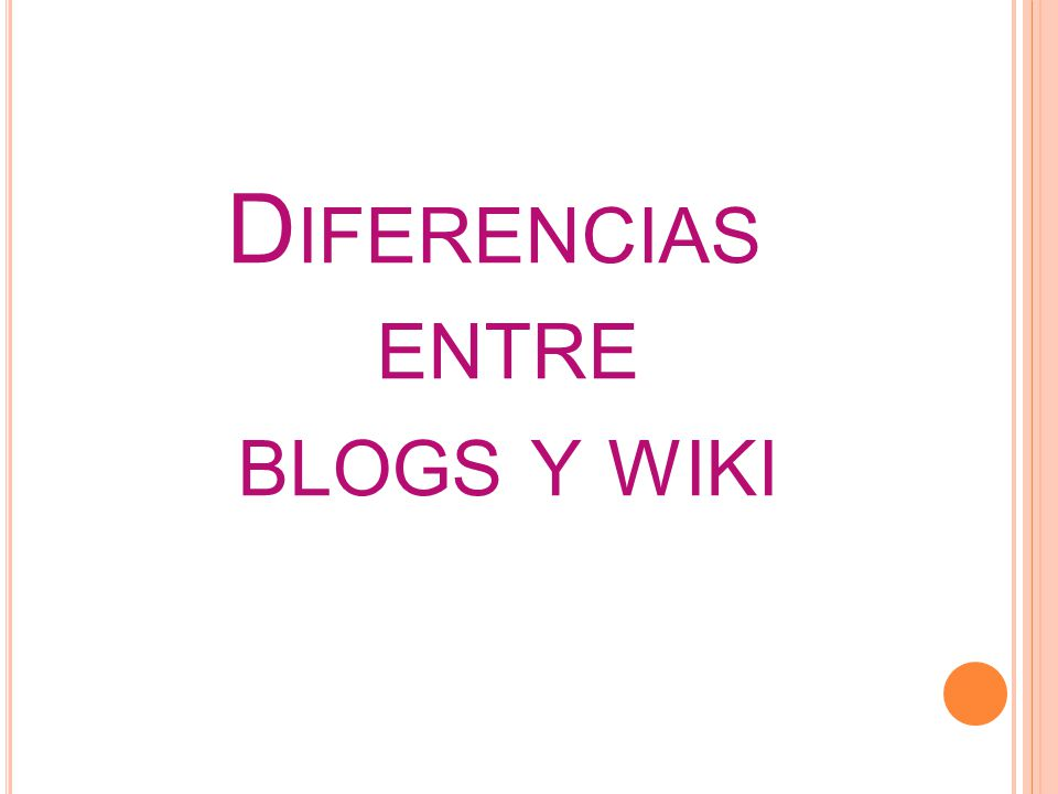 Diferencias entre blogs y wiki