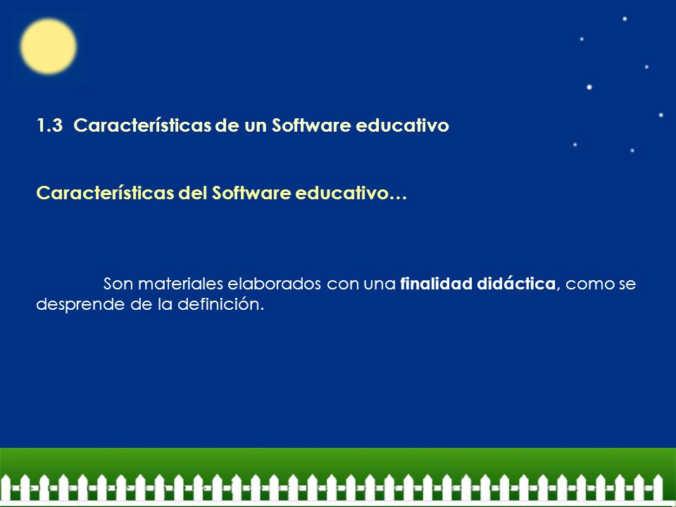 1.3 Características de un Software educativo