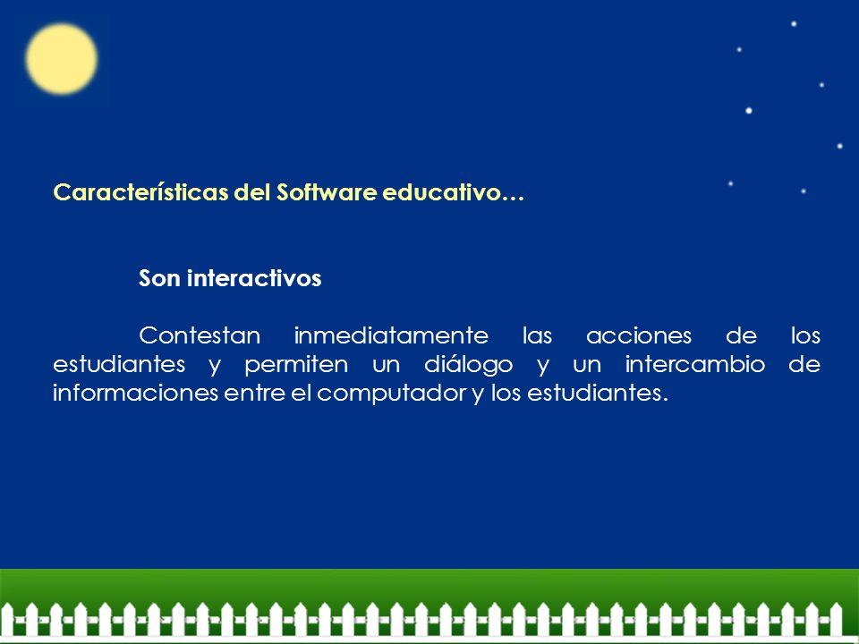 Características del Software educativo…
