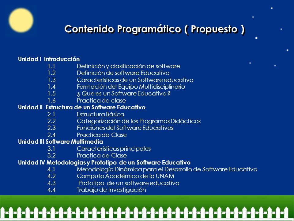 Contenido Programático ( Propuesto )