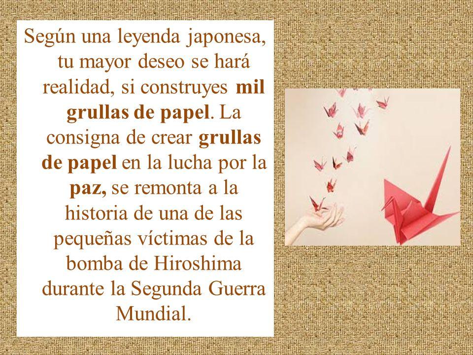 Según una leyenda japonesa, tu mayor deseo se hará realidad, si construyes mil grullas de papel.