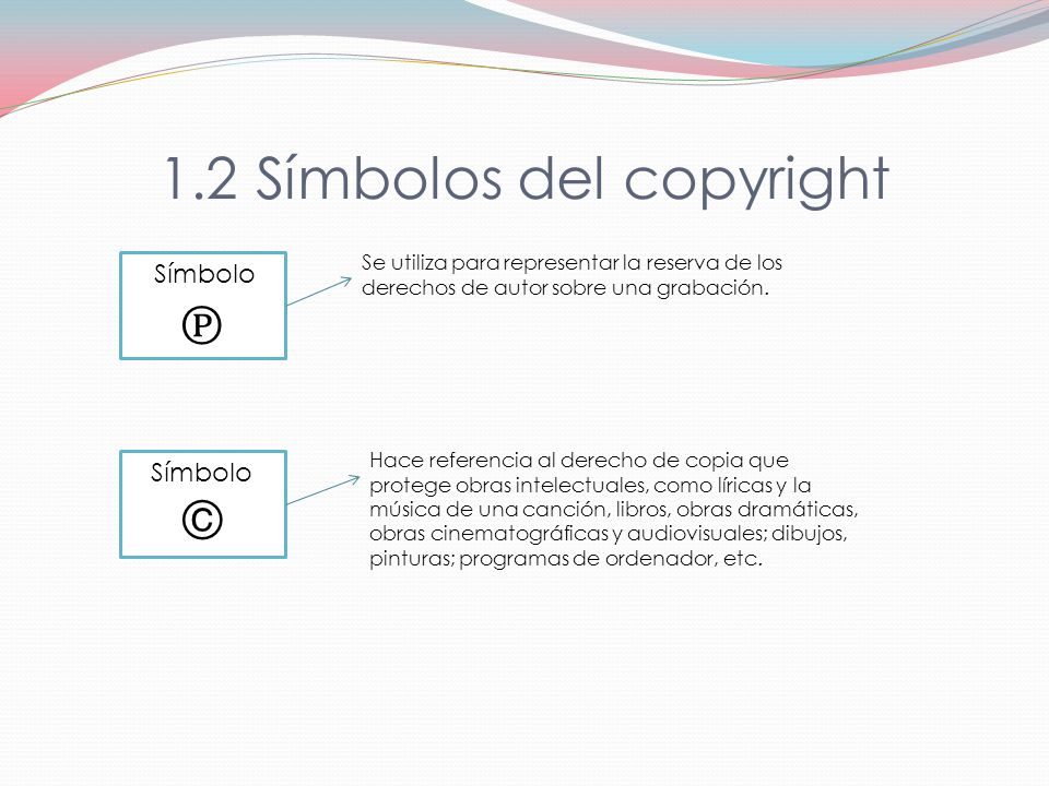 1.2 Símbolos del copyright
