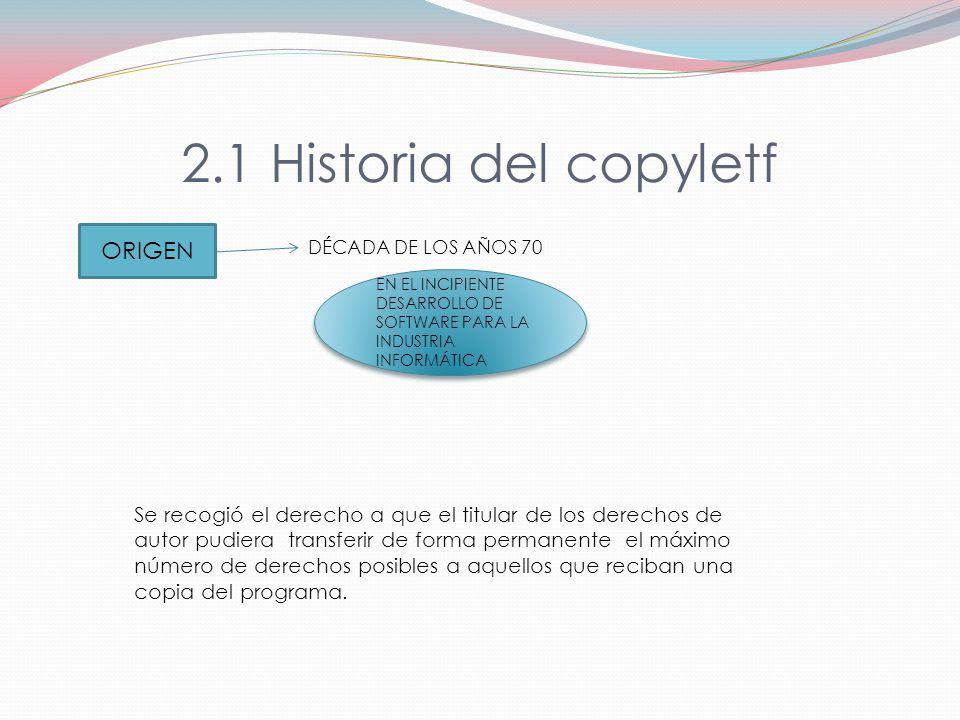 2.1 Historia del copyletf ORIGEN