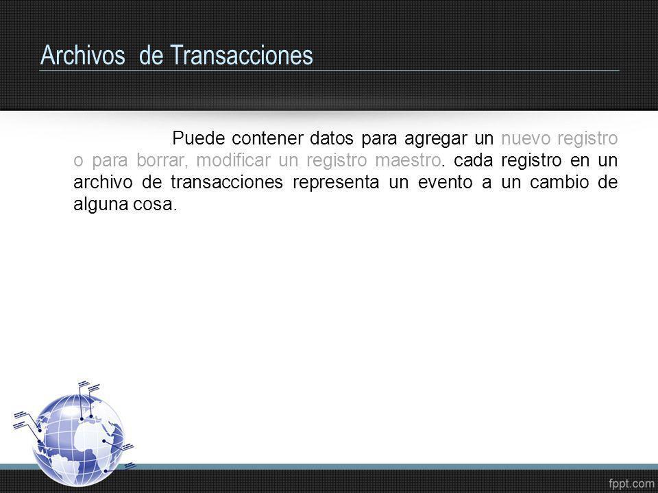 Archivos de Transacciones