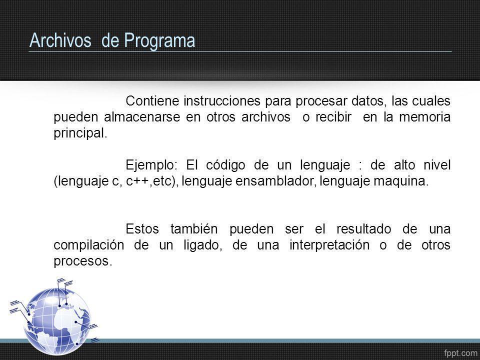 Archivos de Programa