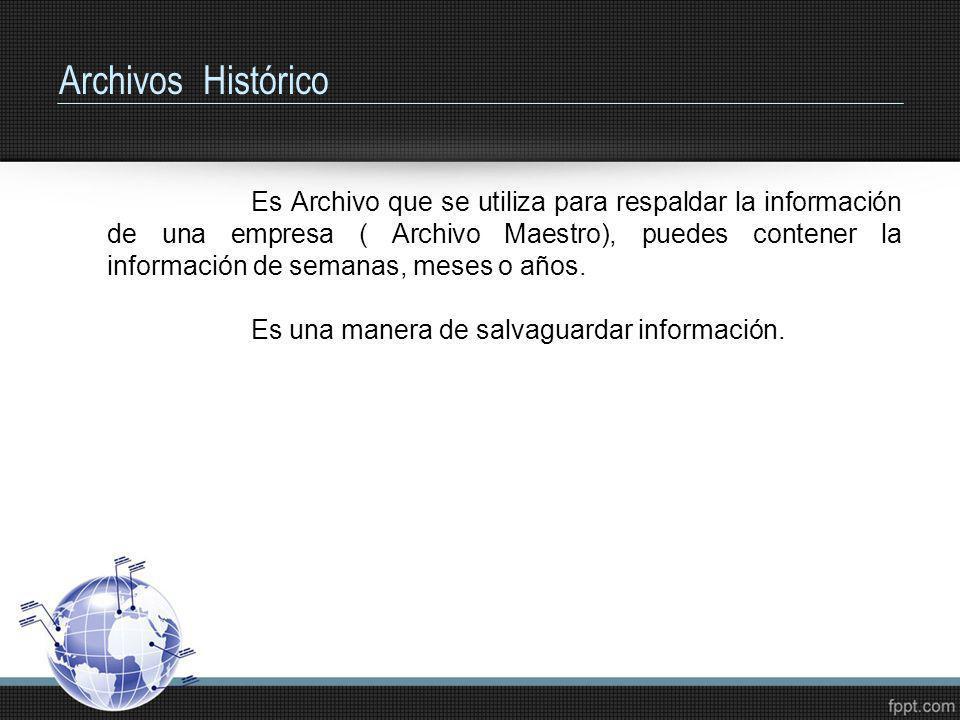 Archivos Histórico