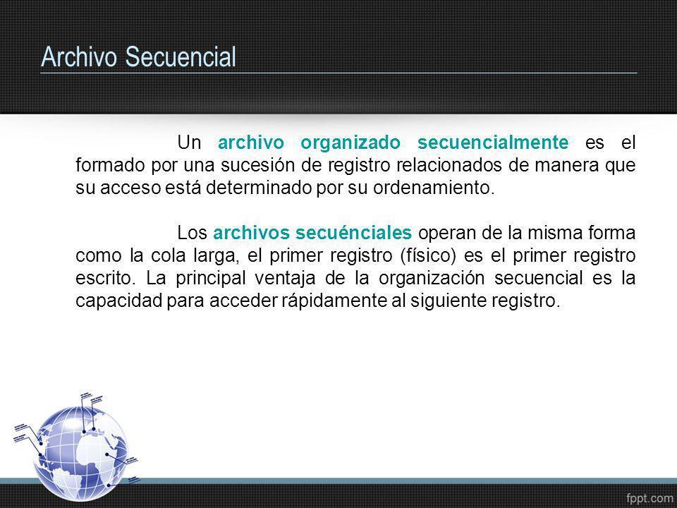 Archivo Secuencial