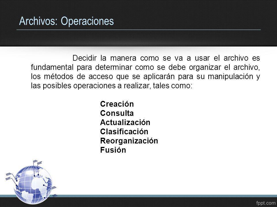 Archivos: Operaciones