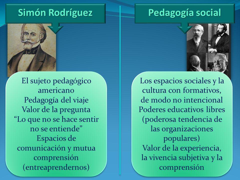 Simón Rodríguez Pedagogía social