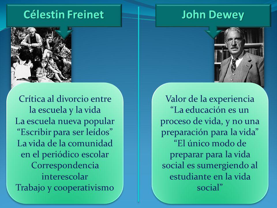 Célestin Freinet John Dewey
